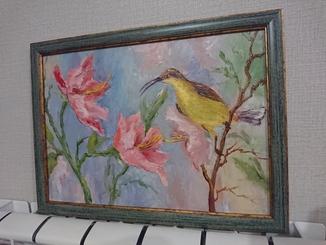 Художник Журавель картина Тропические цветы