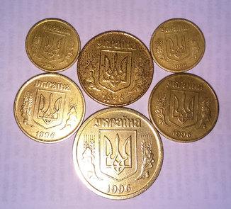 6 монет 1996 года