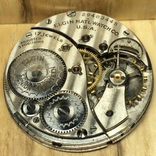 Механизм от карманных часов Elgin американка под марьяж