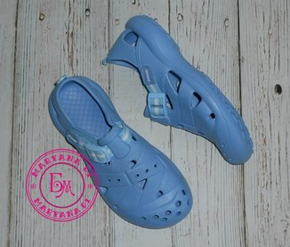Удобные кроксы, аквашузы Steiner голубые 37 размер