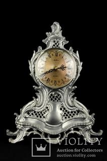 Каминные часы Bentima в оловянном корпусе. 3 кг. Клеймо. Кварц. Германия (0422)