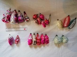 """23 игрушки ссср в лоте. """"Дед морозы"""", """"звери"""", """"ягоды"""",""""шишки""""."""