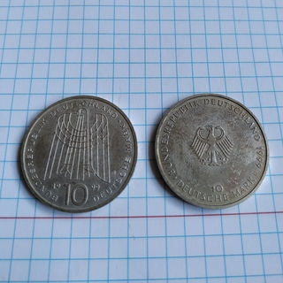 10 марок 1999(2 штуки)