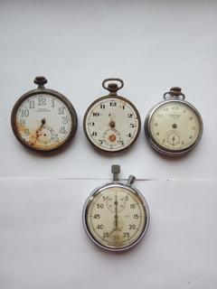 Карманные часы на восстановление или запчасти + бонус (секундомер)