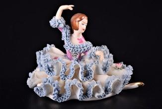 Фигурка Статуэтка Плясунья Балерина Dresden Germany