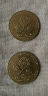 1 гривня Євро 2012 / идеал / 2 штуки