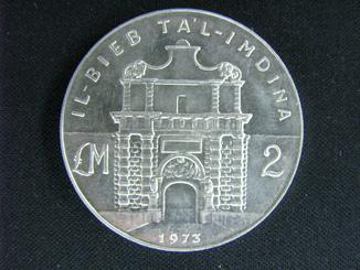 2 Мальтийских фунта, 1973 г., UNS.