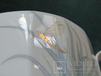 Бульонница бульонная чаша + пирожковая тарелка тонкий фарфор Rosenthal Розенталь Германия