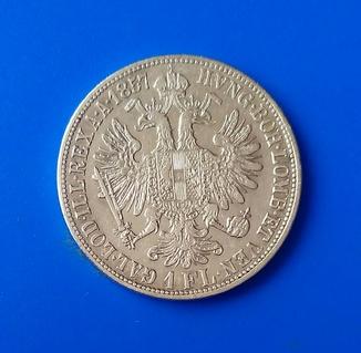 Австро-Угорщина. 1 флорин 1857 р. Перший рік чекану