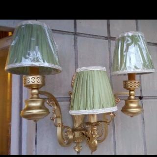 Бра на три лампы, шелковые абажуры