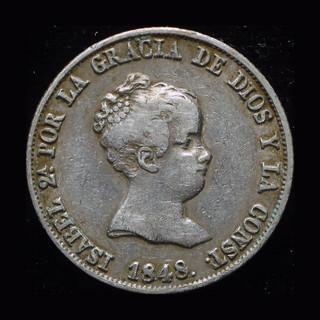 Испания 4 реала 1849 серебро