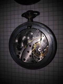 Карманные часы Молния экспортные с механизмом молнии. рабочие на четком ходу.