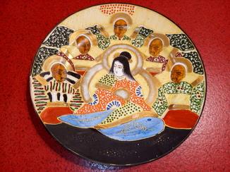 Японская тарелка сатсума.