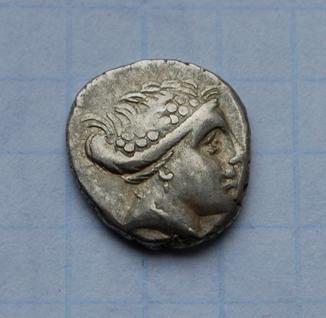 Древняя Греция, тетробол Эвбея. Вес 1,89 г.