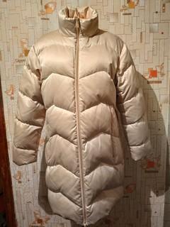 Пальто зимнее очень теплое. Пуховик ESSENTID пух перо р-р 42