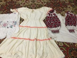 Вышиванка, платье и рушник 50 - 60 годов