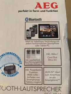 Сверхкачественная аудиосистема Bluetooth AEG BSS 4841