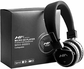 Наушники беспроводные NIA MRH-8809S с MP3/MicroSD/FM + USB зарядка в подарок.