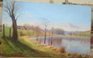 (A View of Hornbeak) 34,5x 21 cm.