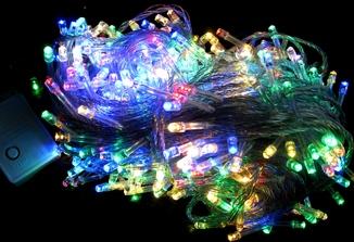 Гирлянда разноцветная . Ёлочная гирлянда . 500 LED , 40 метров
