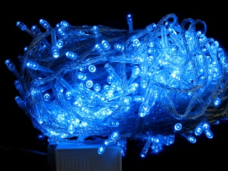 Елочная гирлянда , синий цвет свечения , 500 LED , 40 метров.