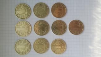 1 гривна 1996  10 штук