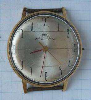 Часы Луч, тонкие, Ау-20