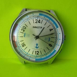 Часы. Ракета 24 / Вахтенные / мех. 2623 Н /  - на ходу
