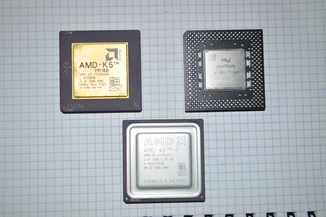 Процессоры Intel Pentium MMX, AMD-K5 , AMD-K6-2