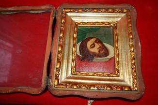 Икона Голова Святого Св. Иоанна Предтечи
