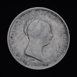 20 Реал 1854 Изабелла ІІ, Испания