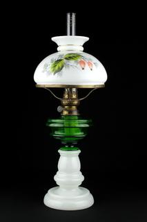 Керосиновая лампа в стеклянном корпусе. Винтаж. 520 мм. Европа (0499)