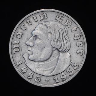 5 Марок 1933 D Мартин Лютер, Третий Рейх