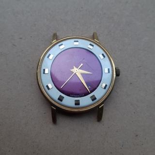 Часы Луч Биколор Бордовый Циферблат Ау 10= Рабочие (не выкуп)