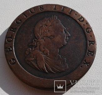 Великобритания 1 пенни 1797 года.