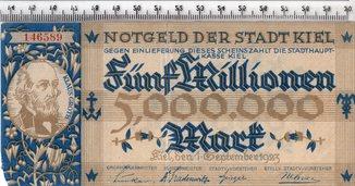 5 миллионов марок 1923 год. Германия.