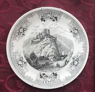 Коллекционная винтажная тарелка. Villeroy & Boch. Замок Бранденбург.