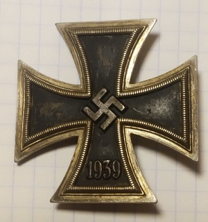 3 Рейх. Железный крест 1 класс 1939.