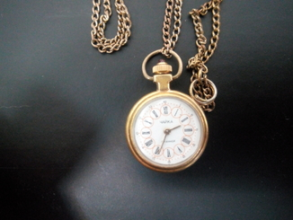 Часы кулон Чайка (женские) AU 17 камней