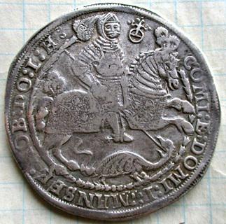 Талер Германия 1608 года (Мансфельд)