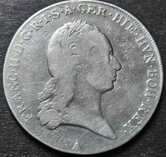 1 Талер 1796 год,  Австрия, Франциск II,  Серебро