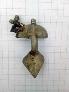 Серебрянная фибула ЧК Готы