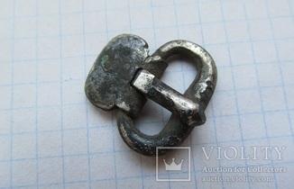 Серебряная пряжка ЧК