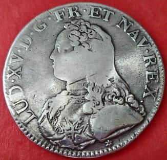 1 экю 1726 год , Франция , Людовик XV, Серебро