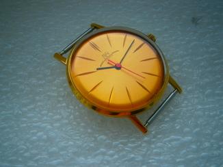 Часы Луч 23 камня в восстановленной позолоте.