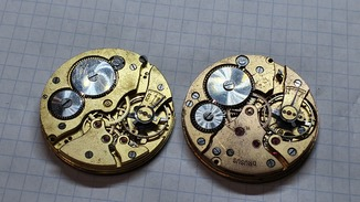 Механизмы старинных часов.