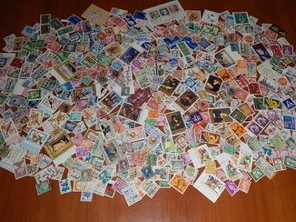 Почтовые марки разных стран мира оптом. 450 шт