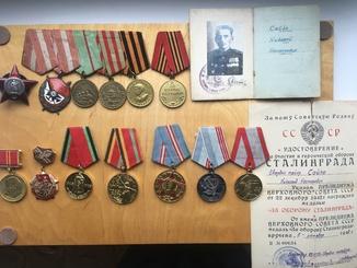 Комплект неполный на заместителя командира полка. КЗ-пятка. Орден БКЗ. Медали. Документы.