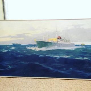 Большая картина на морскую тему.