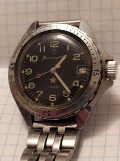 """Часы Командирские """"Восток"""" 2414А на 17 камнях (рабочие)."""